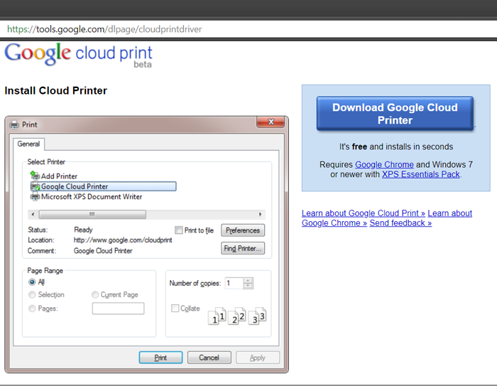 Remote Printing Over Internet with Google Cloud Print