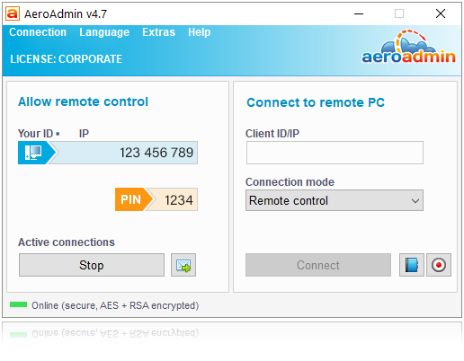 AeroAdmin FEE Remote Desktop Software